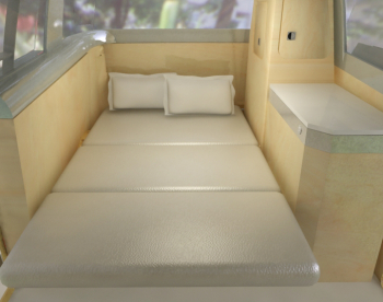 Verdier campervan main double bed