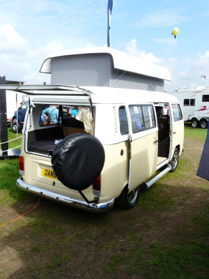Danbury's VW Type 2 conversion (new Mexican imports vans) was a popular draw for visitors... not sure how many would want to live with the outdated performance and limited creature comforts.