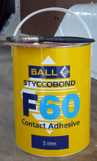 Styccobond Contact Adhesive - used for sticking carpet lining and insulatin to panels