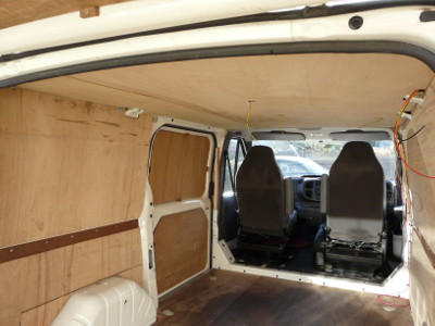 Panelling Amp Insulating The Van Motorhomeplanet Co Uk