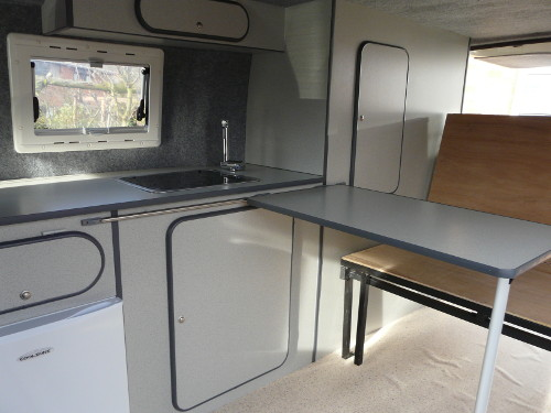 Side conversion furniture unit - for SWB van