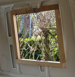 Fitting a Seitz window - wooden frame