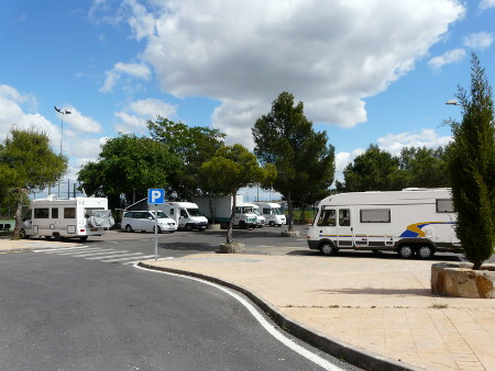 Caceres - official motorhome parking with service point