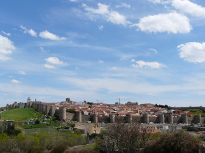 Approaching Avila - an attractive walled town