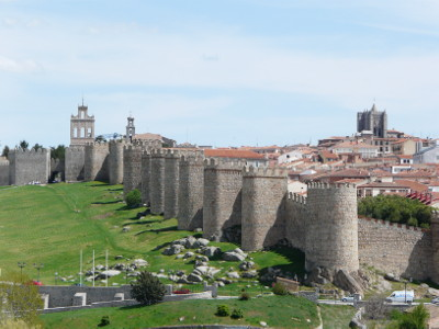 Avila's walls - the parking is just off the town's ring road, to the left of this picture