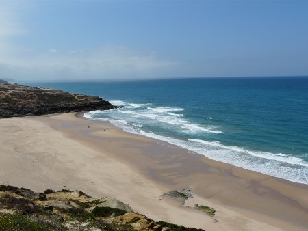 Ericeira beach - our view at lunchtime. Would you believe it's only around 20 miles from Sintra?