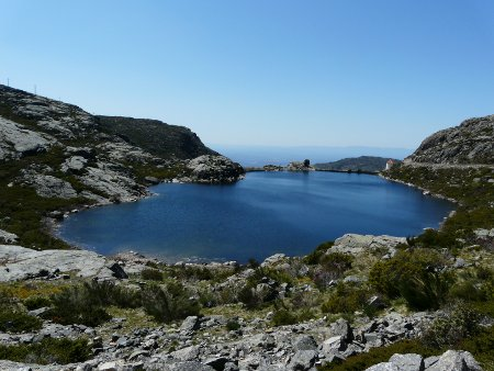 Some of the lakes in the Estrelas were man made, like this one