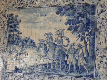 Don't confuse these with the usual tourist tat. These are original 'azulejos' and decorate the wall of one room in the National Palace at Sintra