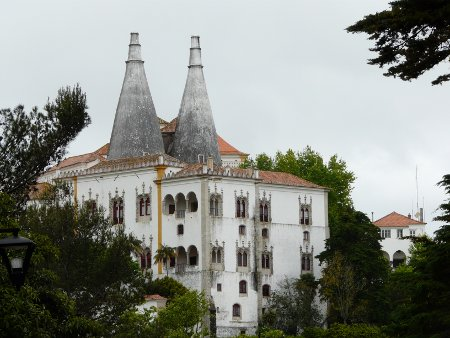The Palacio Nacional at Sintra is more impressive inside than outside...