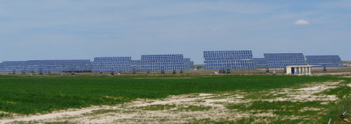 Fields full of solar panels were a frequent sight in Spain