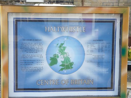 This is about as good as it gets in Haltwhistle, Centre of Britain (290 miles to North Orkney and 290 miles to Portsmouth)