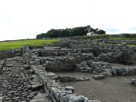 Housesteads Roman Fort - there are plenty of signs explaining each section of the fort