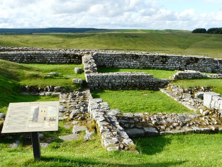 More of Housesteads, with Hadrian's Wall running across the back