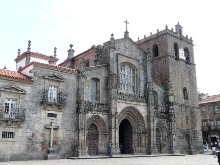 The Church in the centre of Lamego - a wedding was on as we passed