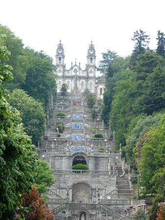 Lamego's famous baroque stone staircase - about 600 steps in all