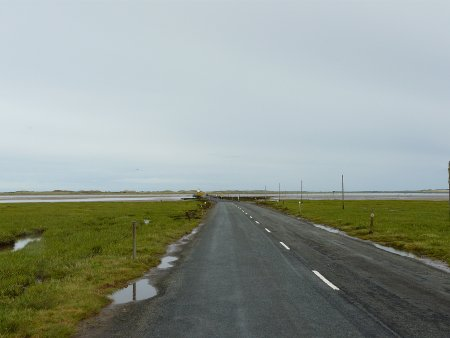 The tidal causeway to Lindisfarne Island (Holy Island)