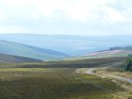 Pleasant views from Kielder Forest Drive, driving across Northumberland National Park