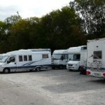 Motorhomes were double-parked in some places at the Baden-Baden stellplatz we used - it was very well located for the town and free