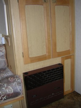 A heater and some useful cupboard doors...