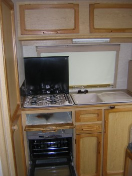 A full kitchen, all of which could be transferred to a motorhome build