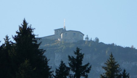 The Eagle's Nest, or Kehlsteinhaus, on Mt. Kehlstein