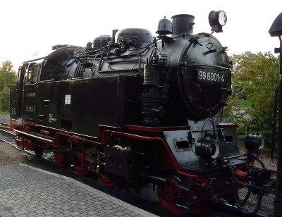 A close-up of the steam train in question...