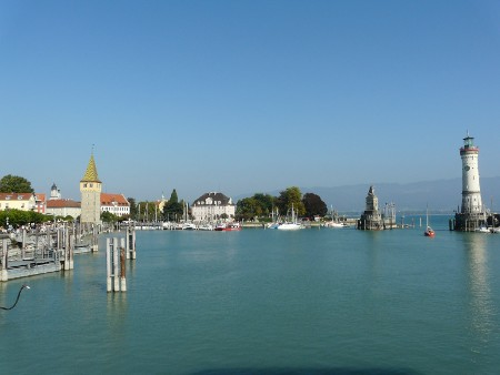 The quayside area of Lindau Island - where the cruises depart from