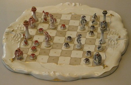 I particularly liked this porcelain chess set