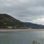 The Rhine (Rhein) is a seriously big river that carries a lot of freight - spot the barges, on the far side