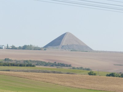 Strange pyramid seen by the road en-route to Leipzig