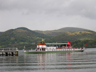 Ullswater lake cruise steamer