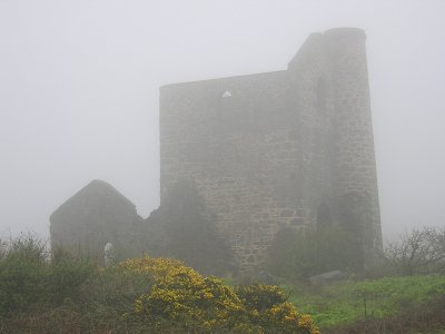 The ruins of an old Cornish tin mine