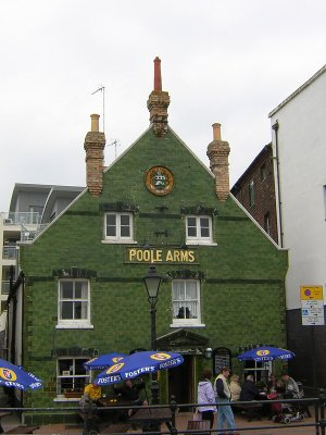 Poole Arms, a tiled pub in Poole