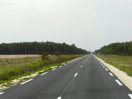 A boring road in France