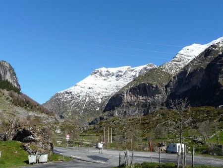 View from Gavarnie aire on a clear morning - the sky really was this colour!
