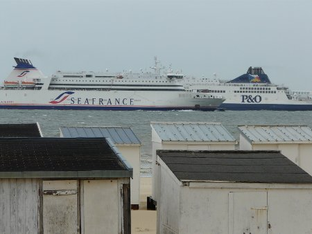 P&O Ferries & Sea France ships together at Calais