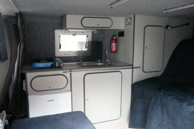 My van's side conversion furniture