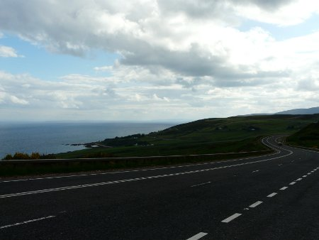 The A9, in Sutherland and Caithness, north-east Scotland