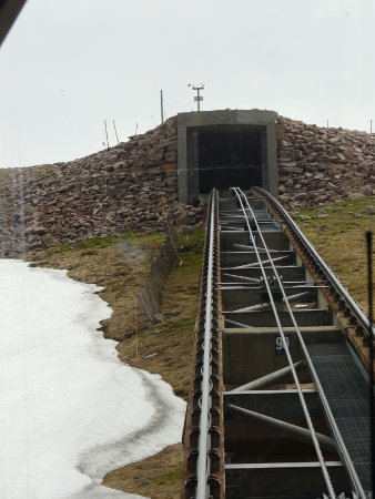 Cairngorm mountain railway - view from train on way down