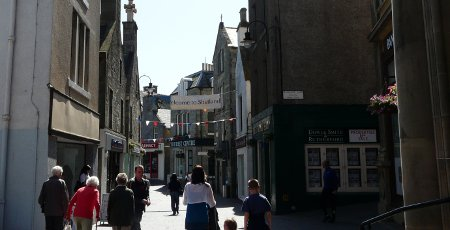 Lerwick main shopping street