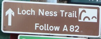 Loch Ness Trail road sign
