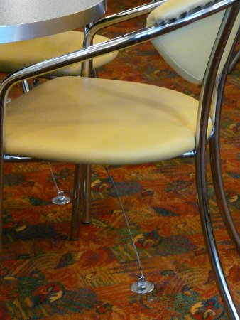 Chair tethered to floor on Northlink Ferries ship
