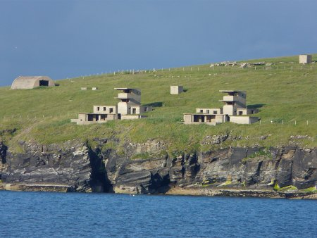 WWII concrete blockhouses, Orkney coast