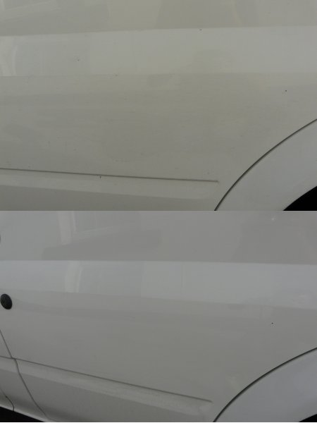 Paintwork before and after using Mantis Instant Shine