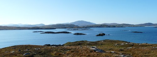 View of Hebridean islands
