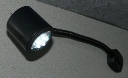 12V LED reading light with flexible arm