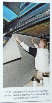 Fitting carpet to the wall of a VW T25