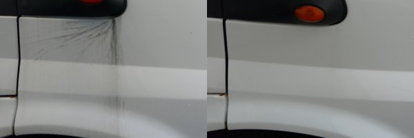 Removing black streaks from motorhome bodywork with Onedrywash
