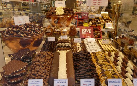 Chocolate shop in Bruges