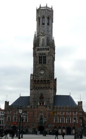 Tower in market square, Bruges